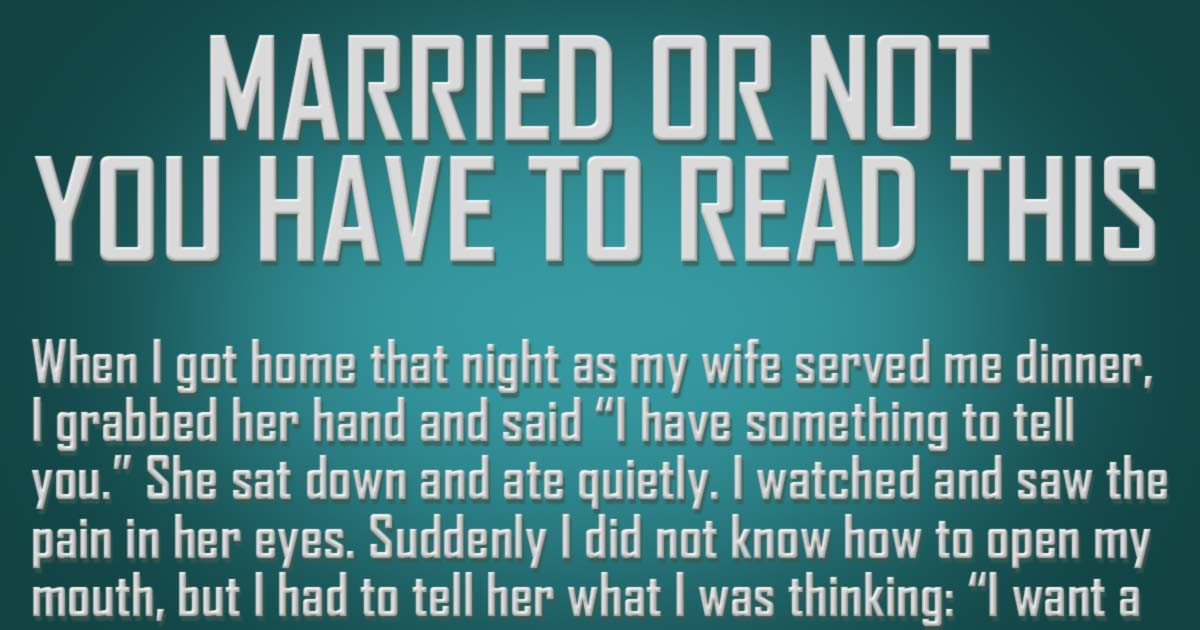 Single or Married, This Story Will Get You Thinking