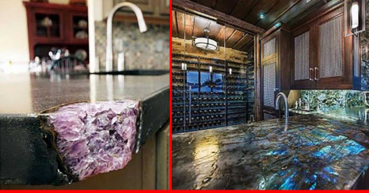 Gorgeous Gemstone Countertops That Will Take Your Breath Away