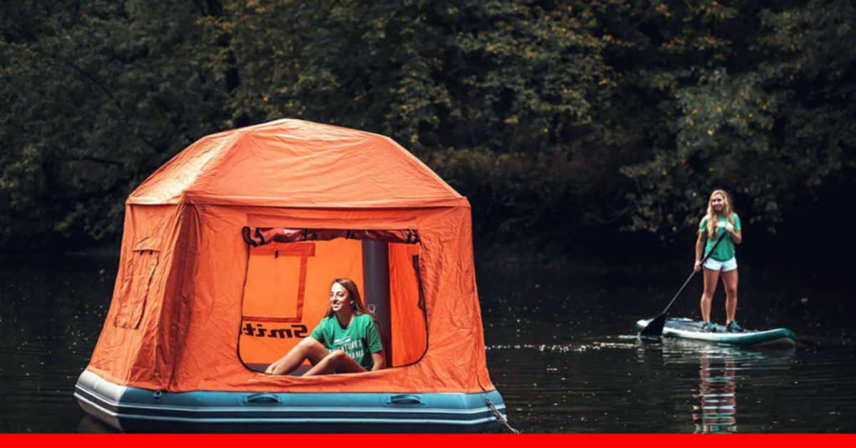 The First Floating Tent That Allows Sleeping Under the Stars, on the Water