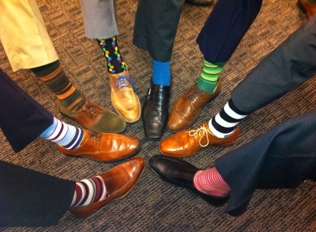 Image result for colorful socks image businessman