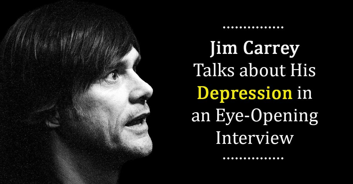 The Well-Known Actor, Jim Carrey Talks About His Depression In A Mind-Altering Interview