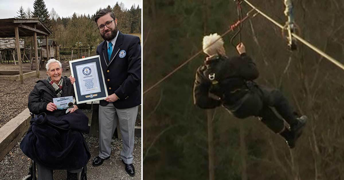 106-Year-Old Jack Reynolds Broke the Guinness Zip Line World Record
