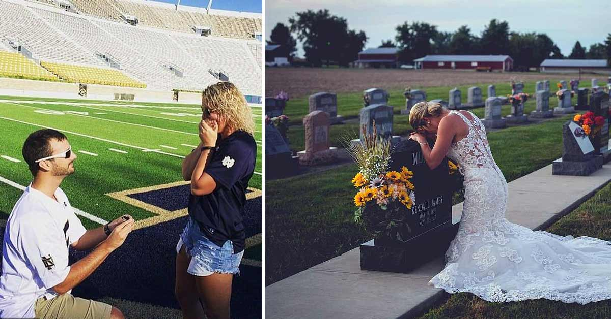 Grieving Bride Wears Wedding Dress to Her Fiance's Grave on Their Big Day