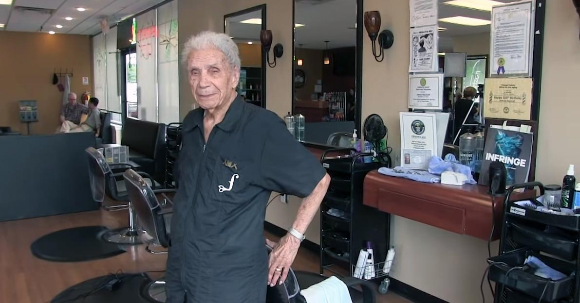 The Oldest Barber In The World Is 107 and Working Full Time 1