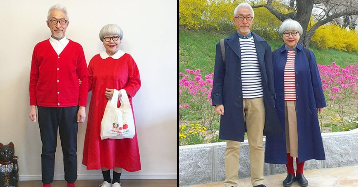 Japanese Married Couple Wear Matching Outfits Every Single Day for 38 Years Now