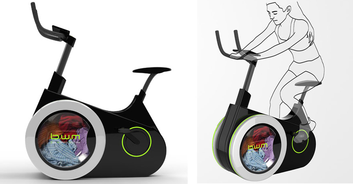 Eco-Friendly Bicycle Concept Would Allow Us to Wash Our Clothes While Exercising
