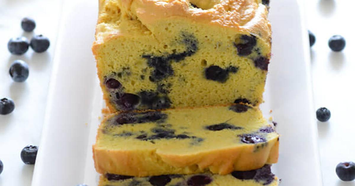 Amazing Keto Blueberry Lemon Bread Recipe